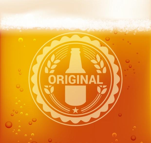 elegant beer logo