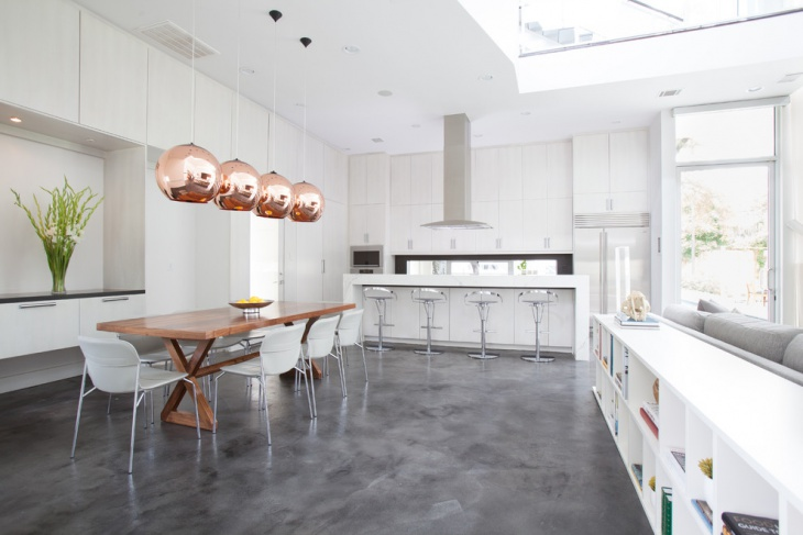 Kitchen Concrete Floor Ideas Part - 40: Gray Concrete Floor Ideas