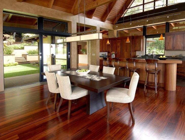 wood polished floor