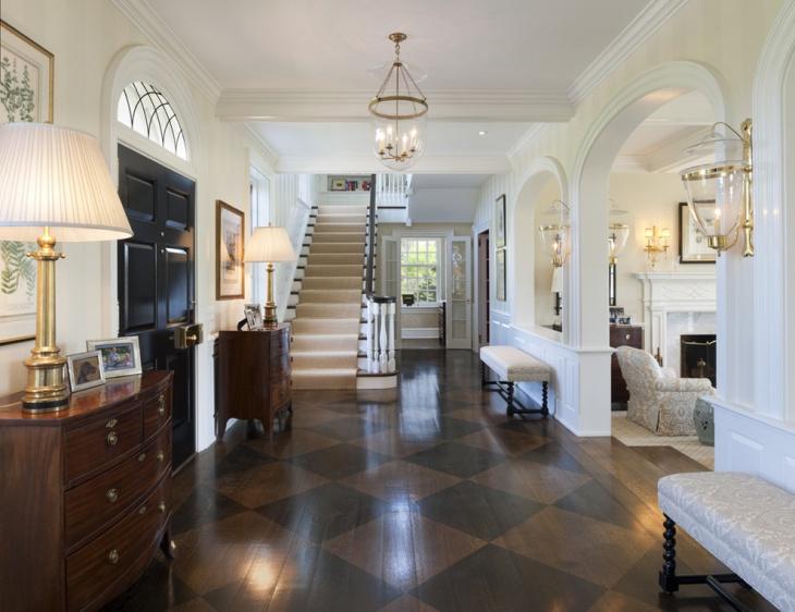 Wooden Pattern Polished Floor