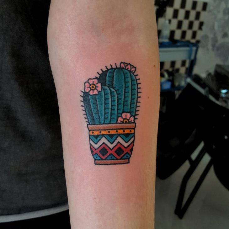beautiful cactus tattoo