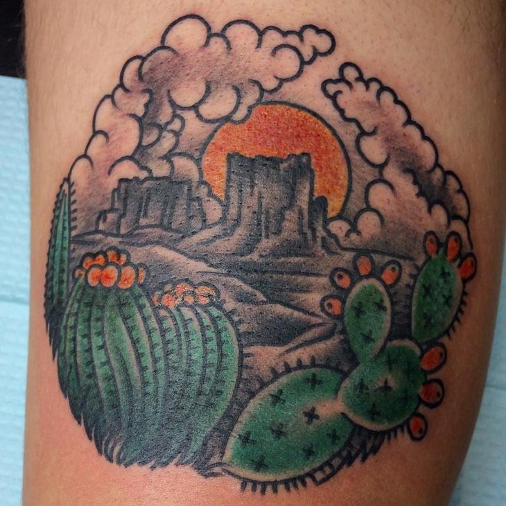 nature cactus tattoo idea