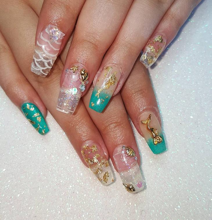 3d seashell nail art