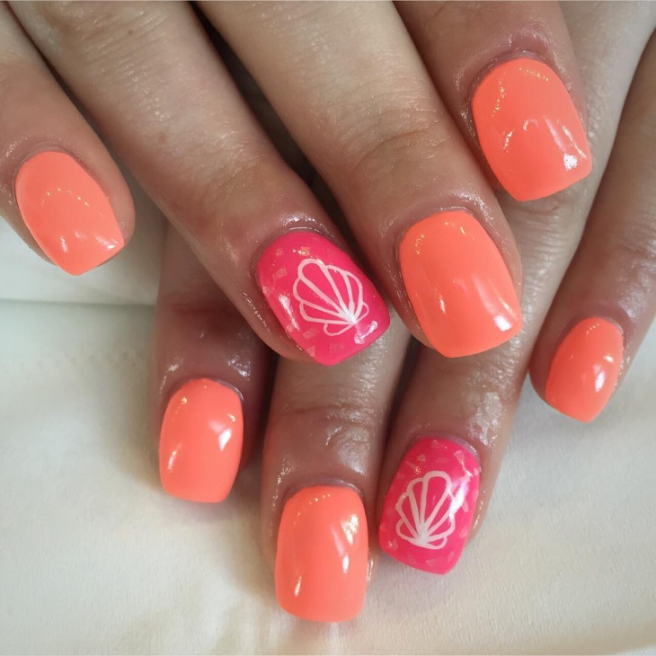 seashell gel nails
