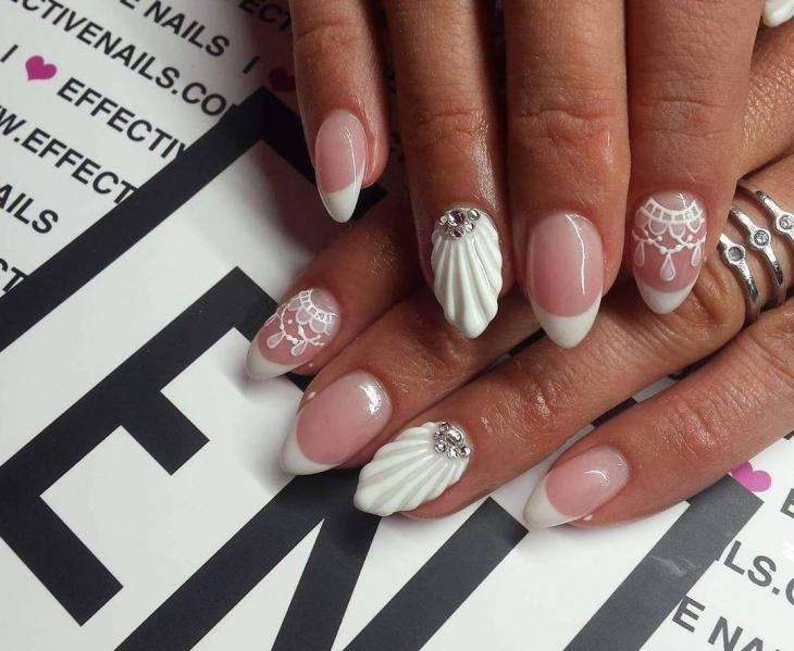 21  sea shell nail art designs  ideas