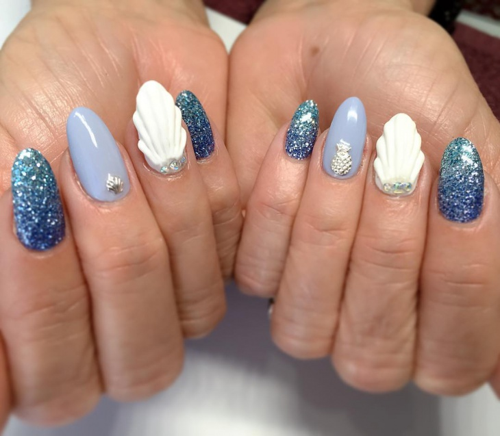 cool seashell nail art
