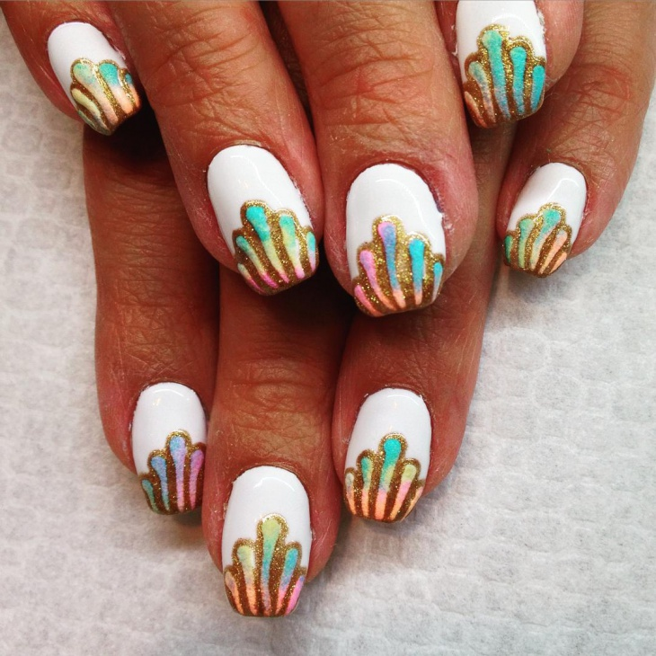 awesome seashell nail art