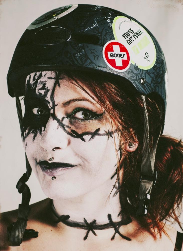 half face banshee makeup