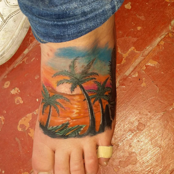 d96c84fc37428 21+ Beach Tattoo Designs, Ideas | Design Trends - Premium PSD ...