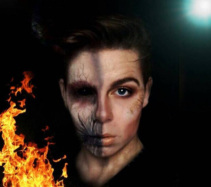 creepy banshee face paint