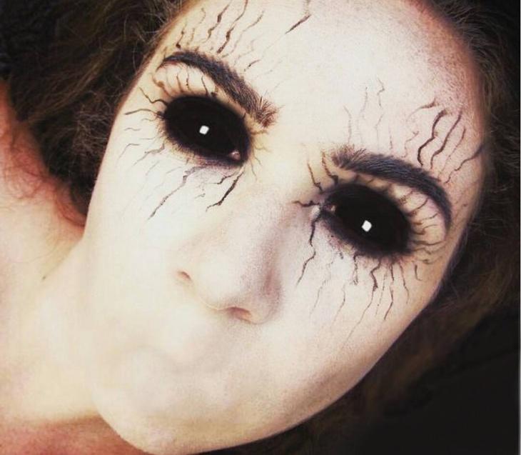 banshee eyes makeup look