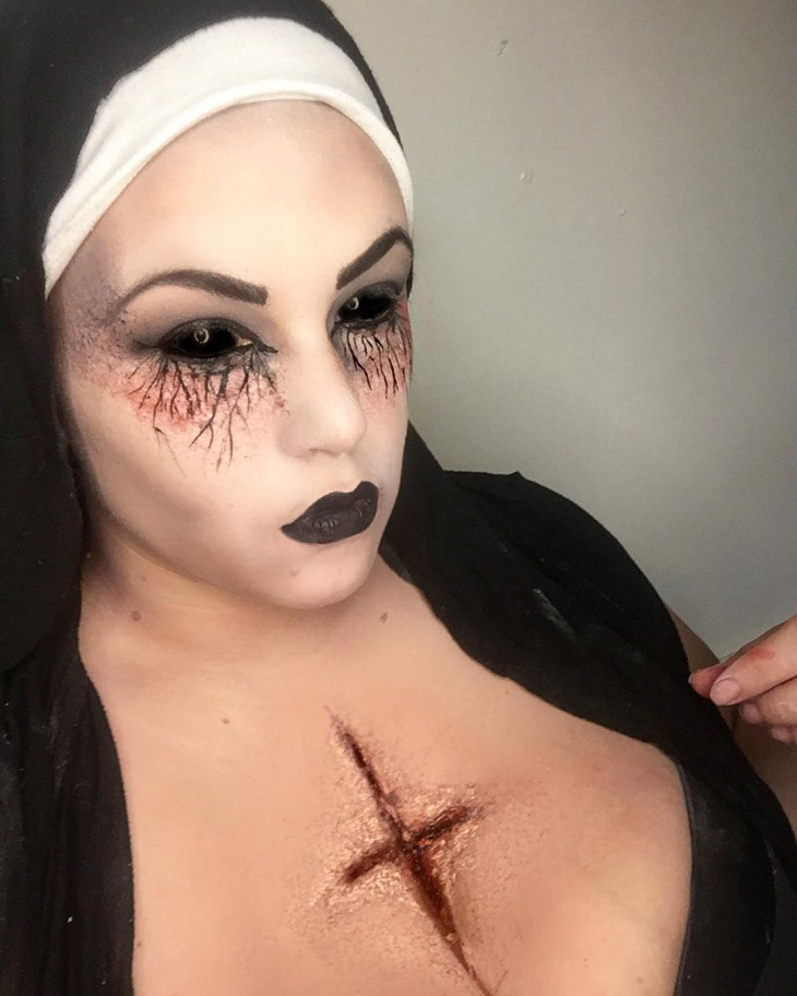 evil nun banshee makeup