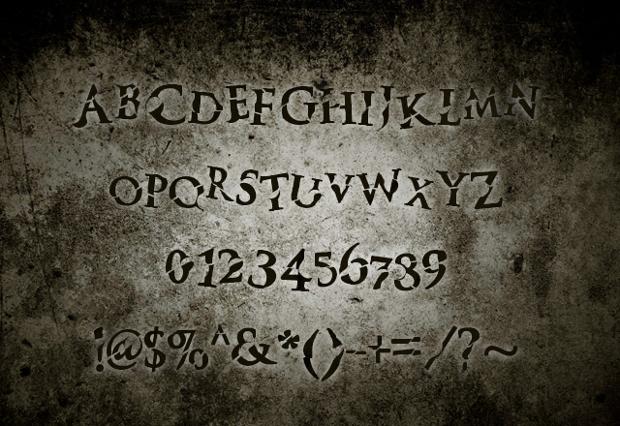 monster halloween font