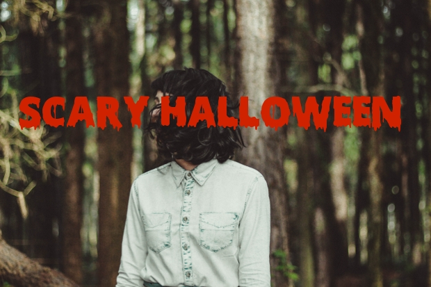 scary halloween font1