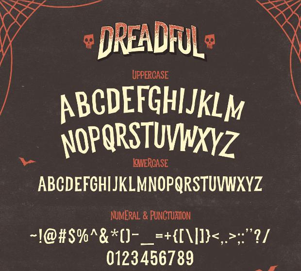 dreadful font