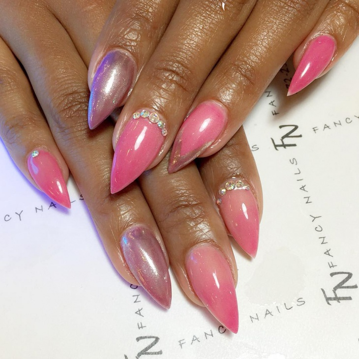 pointed barbie nail designs