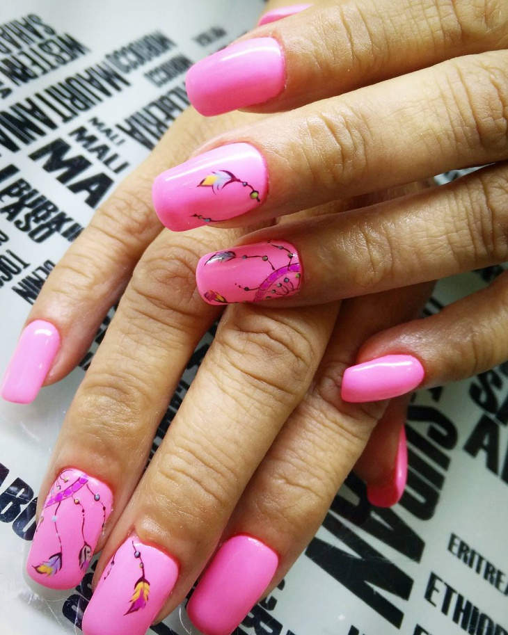 beautiful barbie nail art