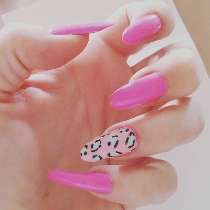 leopard barbie nail design