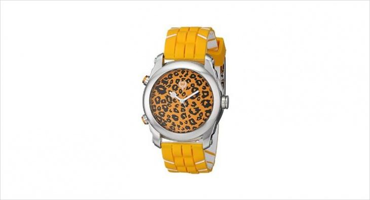 animal print digital watch