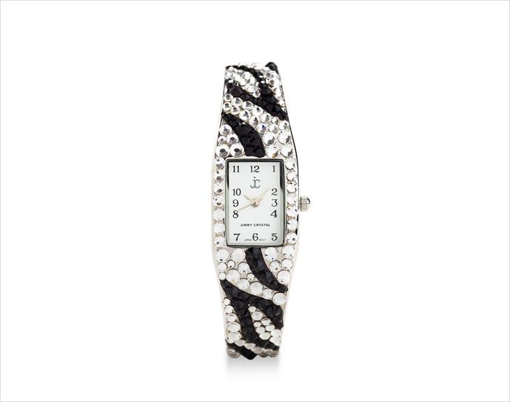 zebra print cuff watch