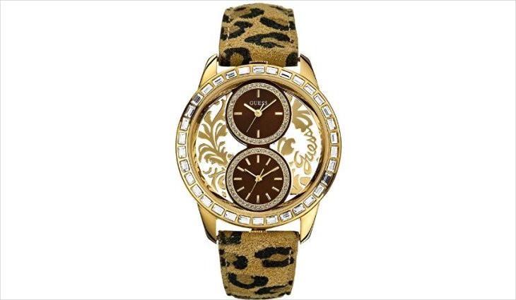 leopard print guess watch