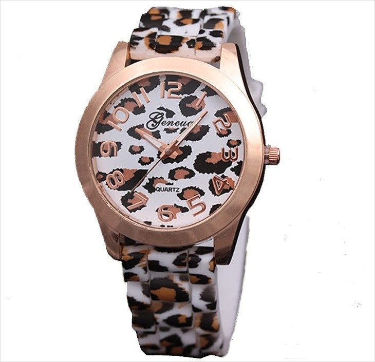 simple animal print watch