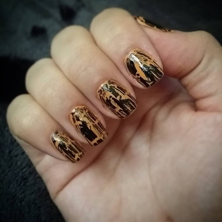 Attractive Crackle Nails Gallery - Nail Art Ideas - morihati.com