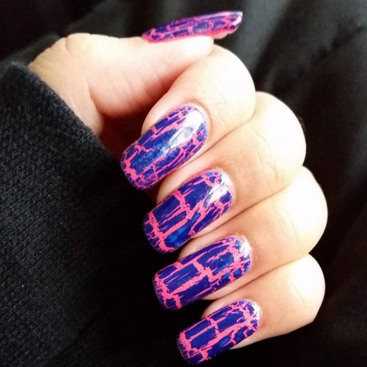 21 Crackle Nail Art Designs Ideas Design Trends Premium Psd