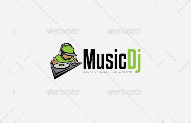 dj music logo template2