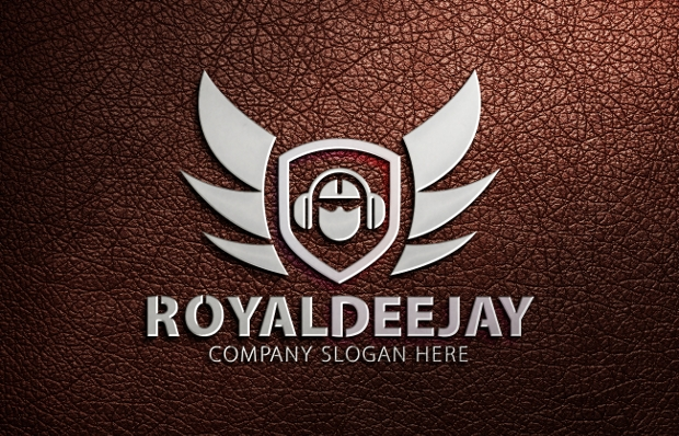 royal dj logo design