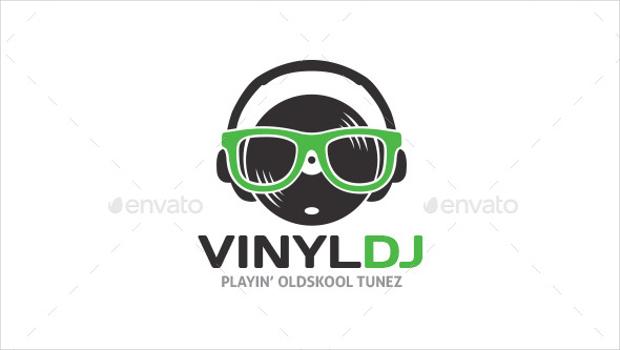 vinyl dj logo