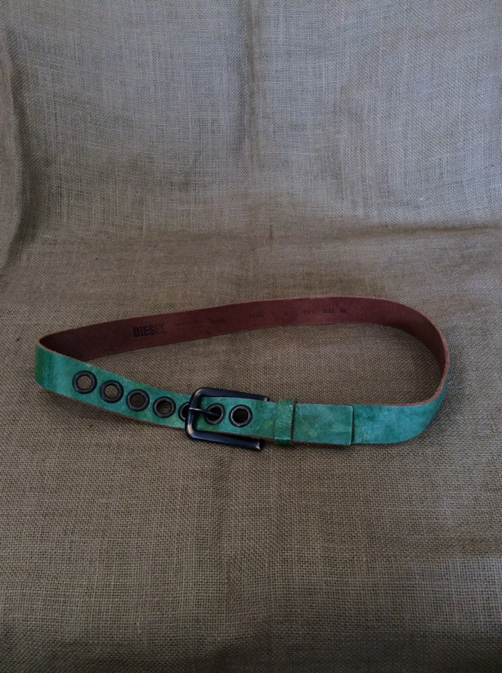 Vintage Distressed Leather Belt