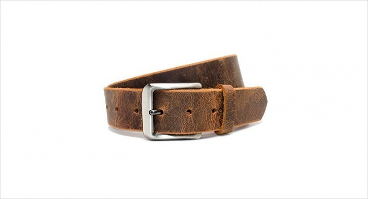 Mens Distressed Leather Belt