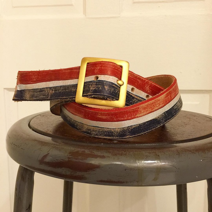 Handmade Distressed Leather Belt