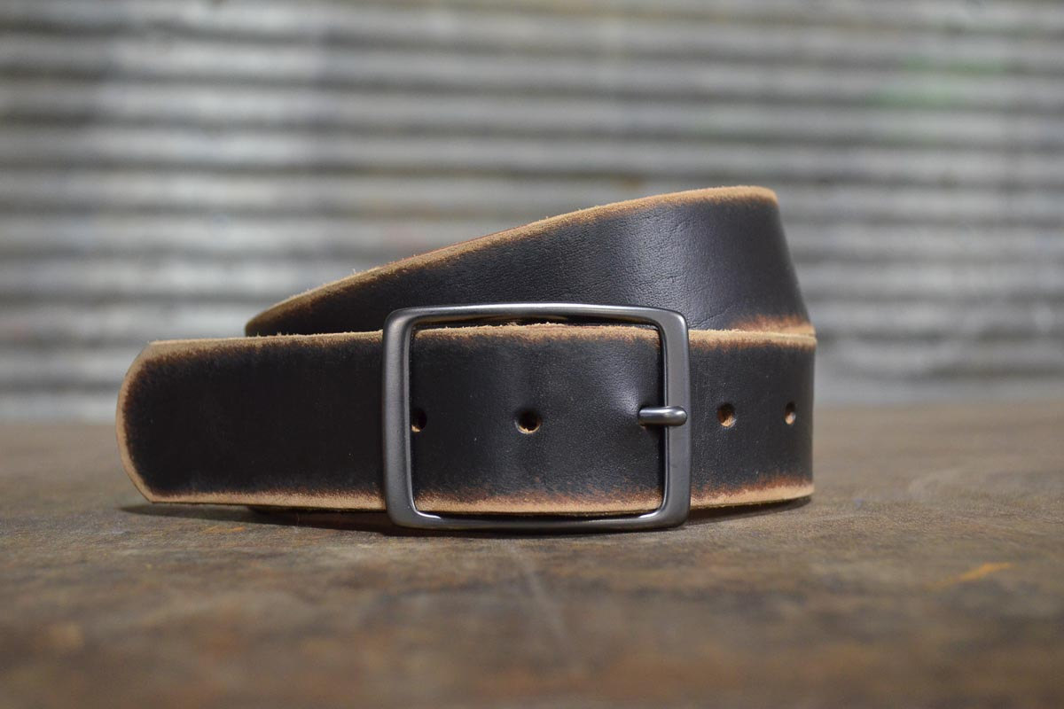 Unique Distressed Leather Belt