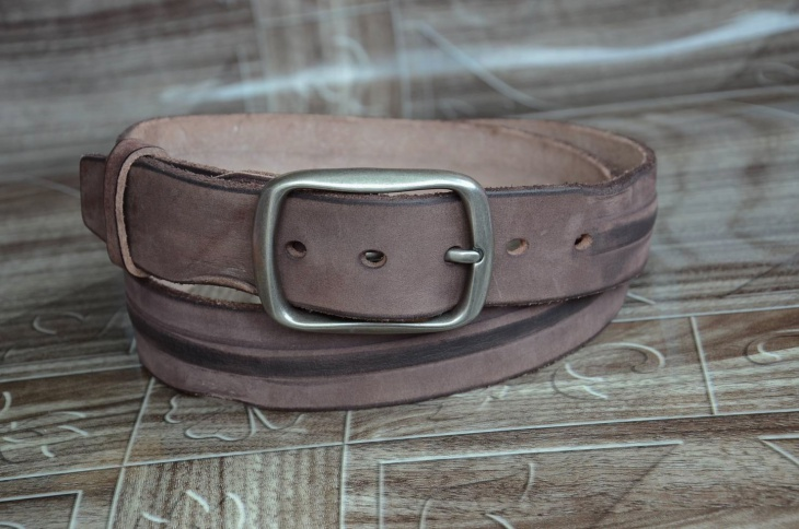 Distressed Soft Leather Belt