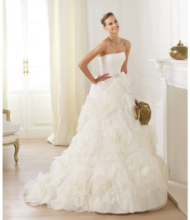 white bubble dress design