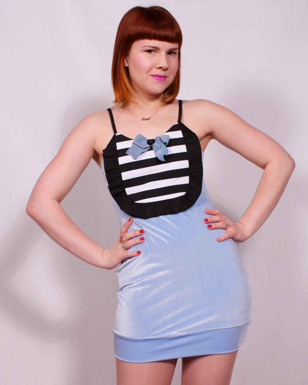 short bow bubble dress