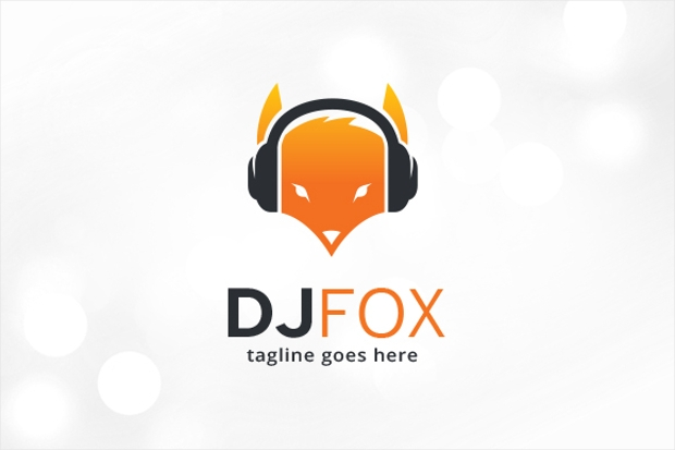 dj fox logo template