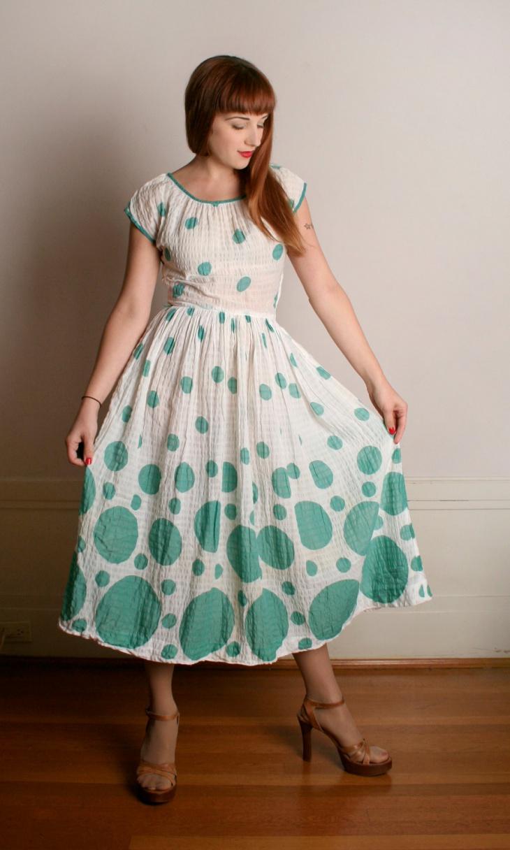 mint green bubble dress