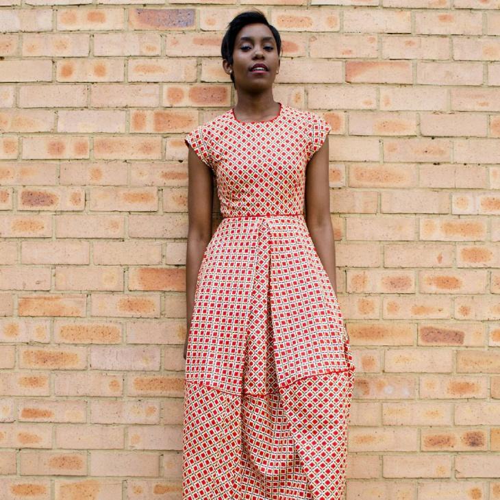 long bubble dress design