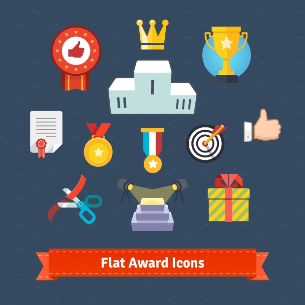 Colorful Awards Icons