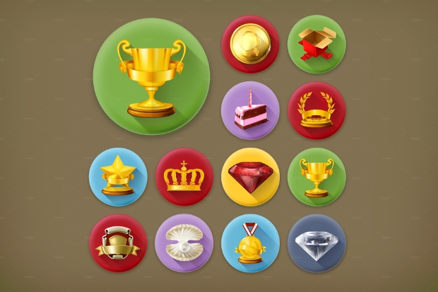 Achievements and Awards Vector Icons