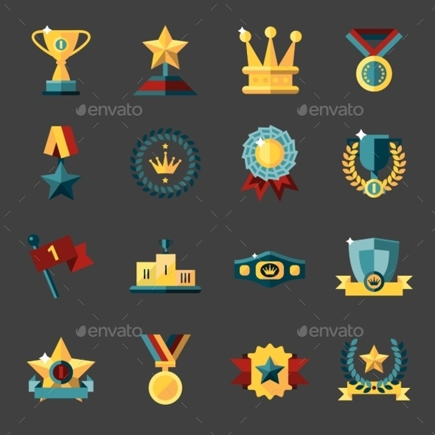 award vector icons