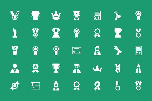 premium award icon set