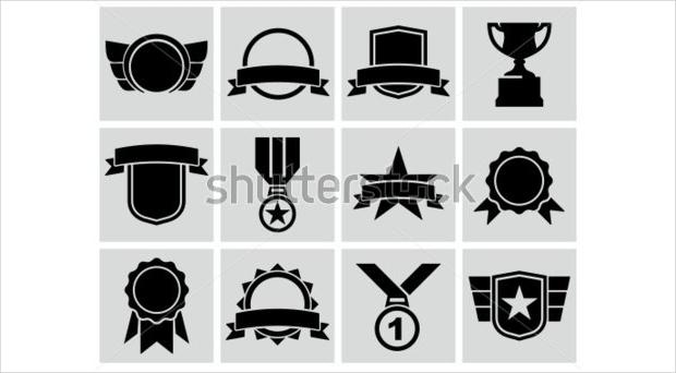 black award icons