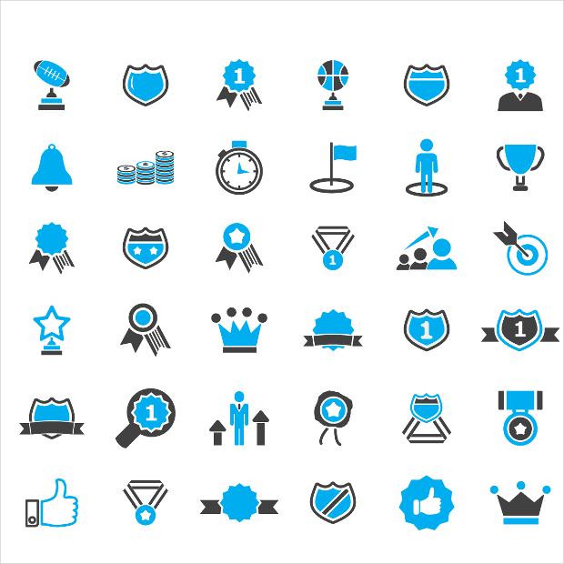 blue award icons