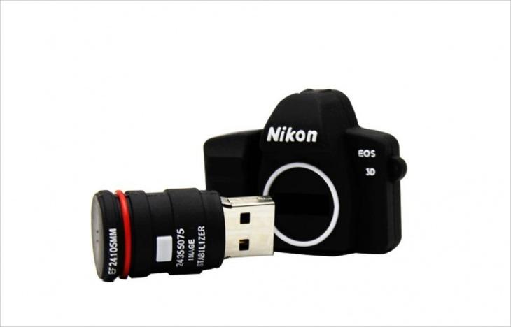 8 gb nikon camera shaped usb flash memory device 3
