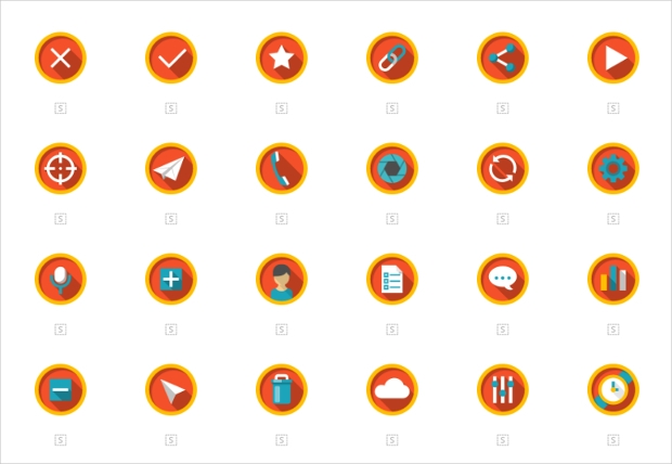 multimedia rounded icons