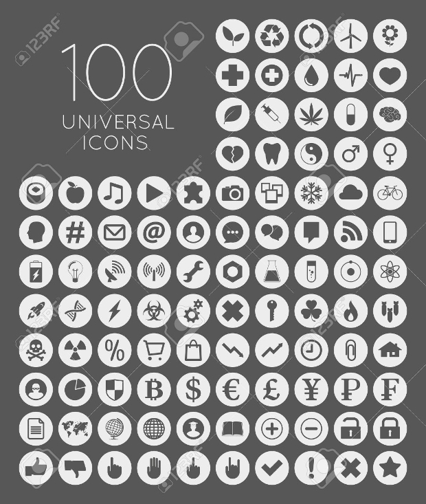 Universal Round Icon Set